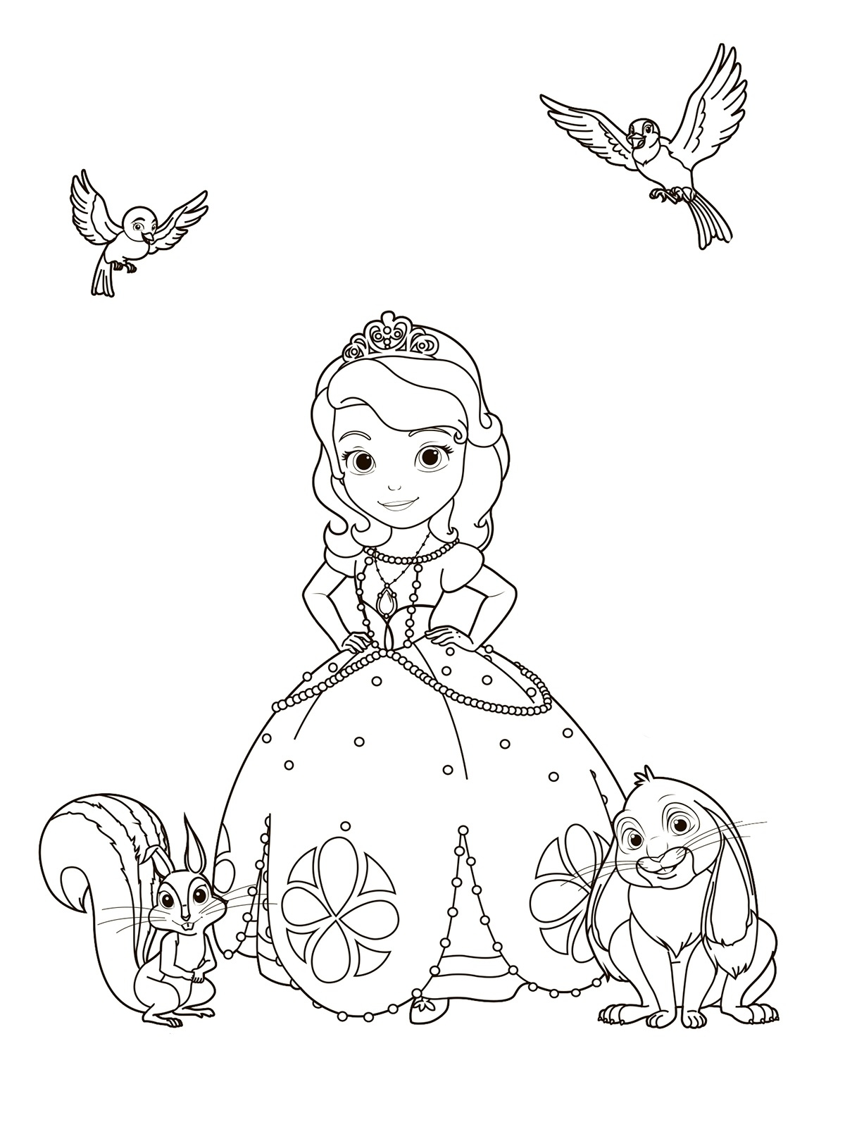 sophia coloring page - sofia first coloring pages