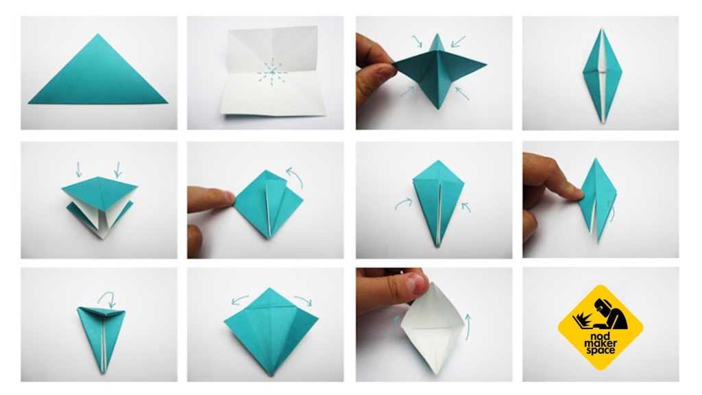 space coloring pages - nod makerspace origami for beginners