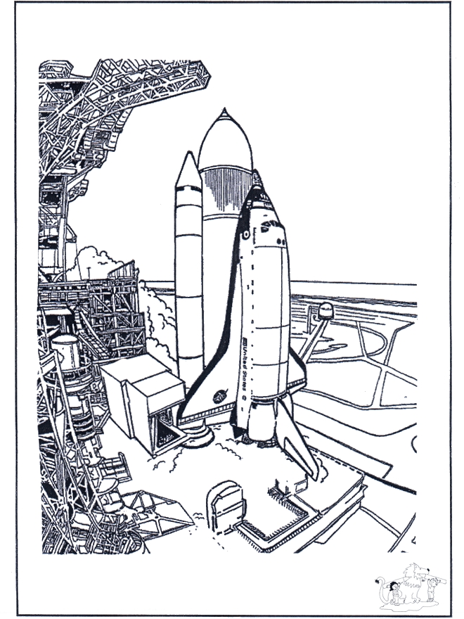 Space Coloring Pages - Space Shuttle Malvorlagen Raumfahrt