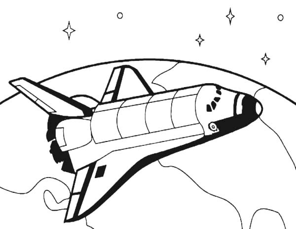 space shuttle coloring pages - how to draw spacecraft for space travel coloring pages