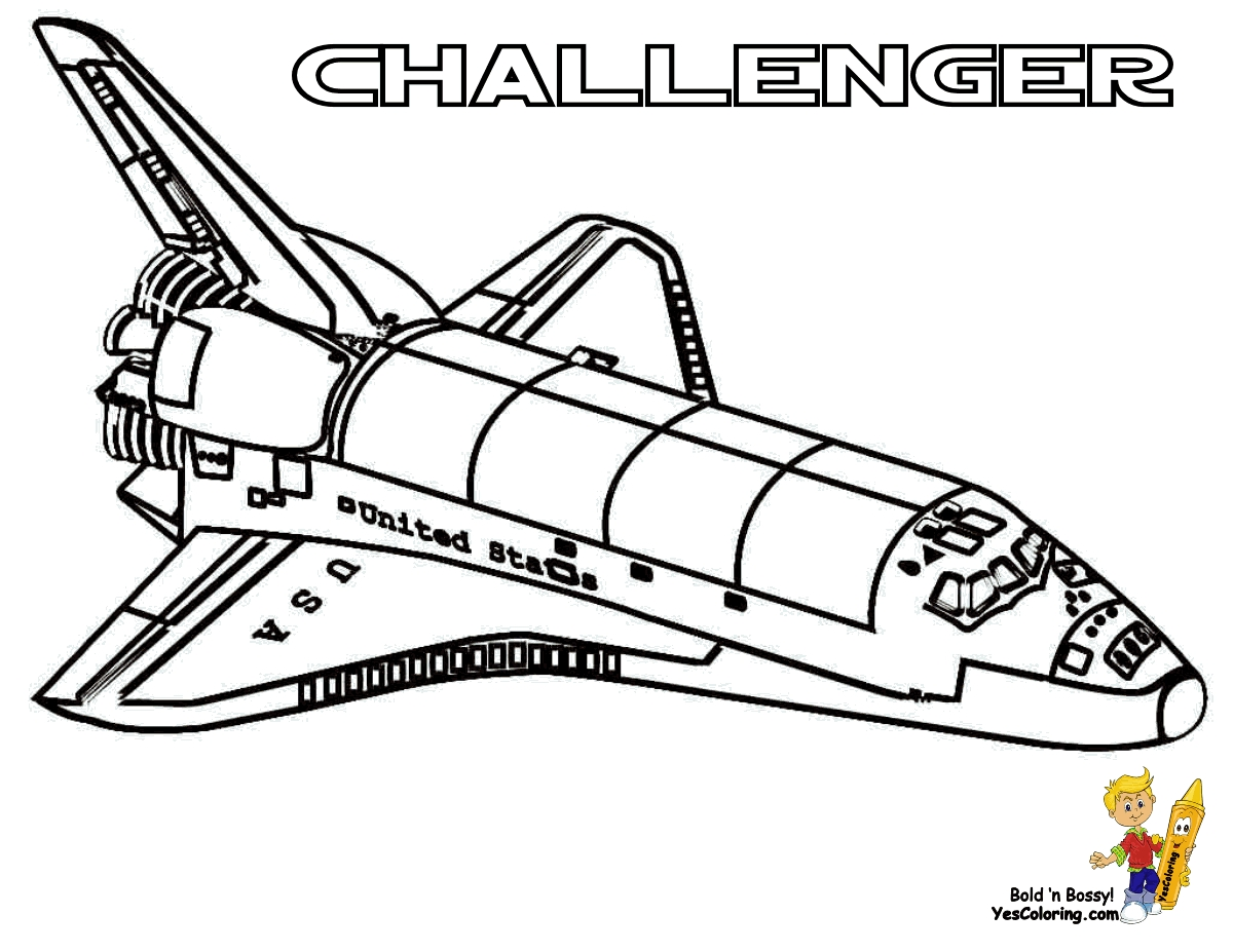 spaceship coloring pages - space shuttle coloring