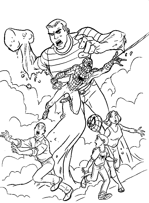 spider man homecoming coloring pages - 4859