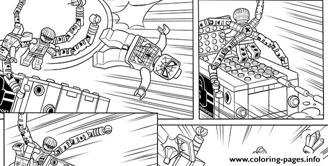 spider man homecoming coloring pages - lego marvel with spiderman printable coloring pages book