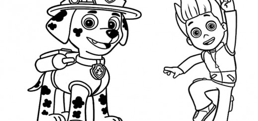 spiderman coloring pages - paw patrol 2