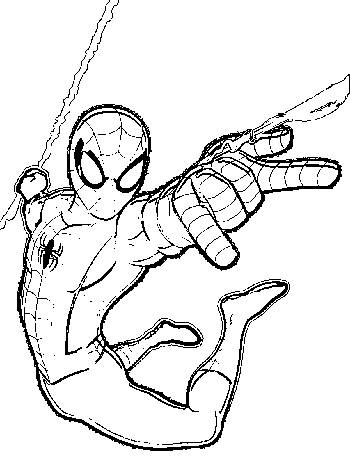 spiderman coloring pages - coloring suite pages