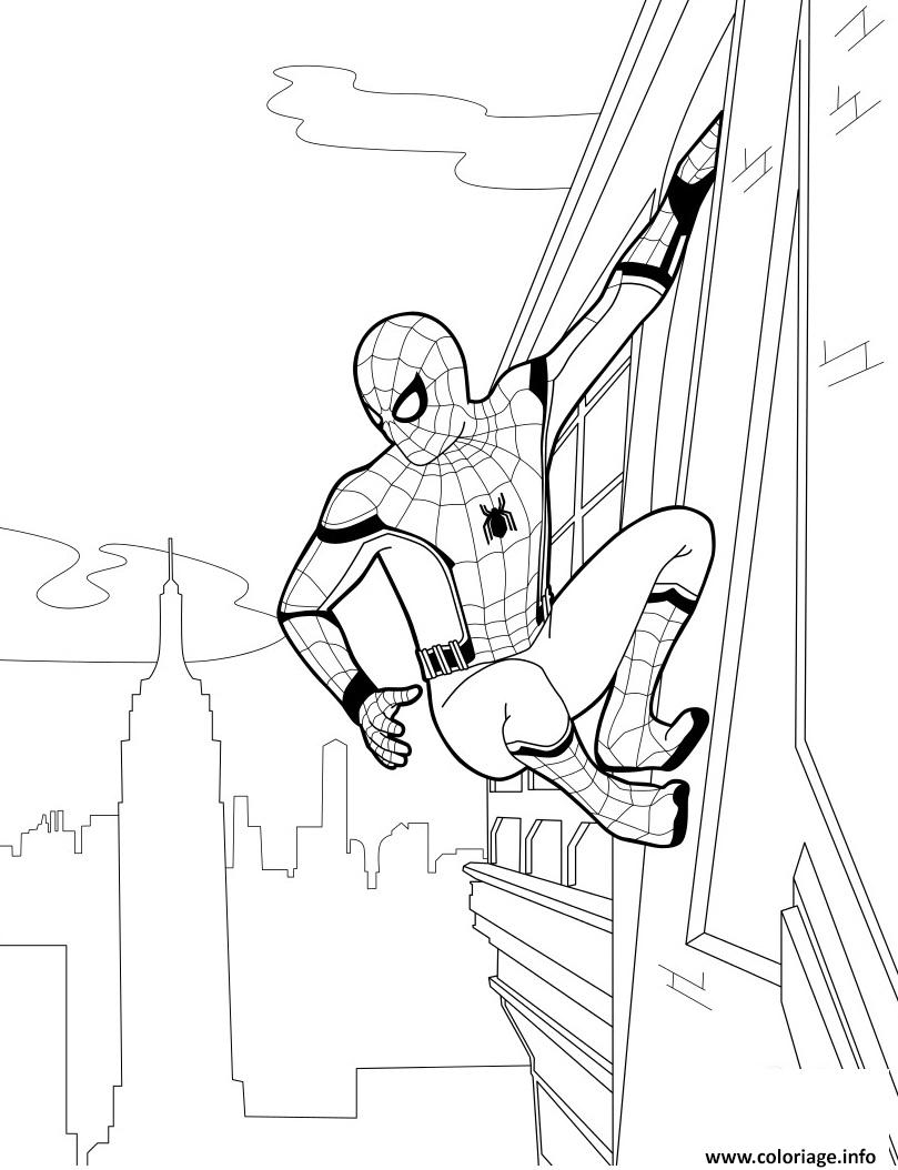 spiderman homecoming coloring pages - spider man home ing coloriage dessin