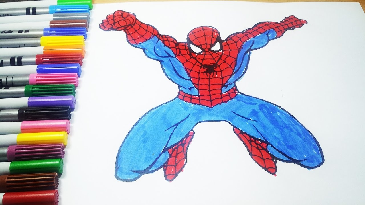 spiderman homecoming coloring pages - watch v=VtZv3qfgfpw