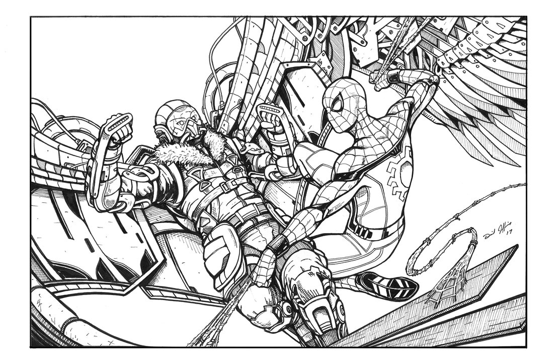 spiderman homecoming coloring pages - daniel jeffriesviantart