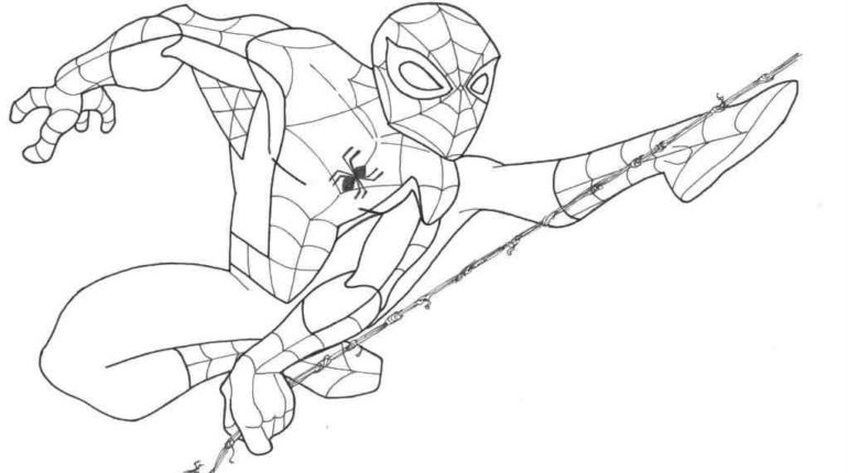 spiderman homecoming coloring pages - spider man drawings coloring pages
