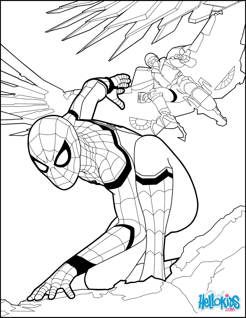 spiderman homecoming coloring pages - spider man home ing 1