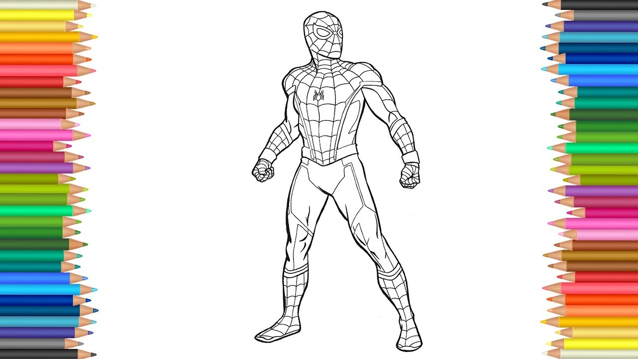 spiderman homecoming coloring pages - watch v=WSHpA5JBh4M