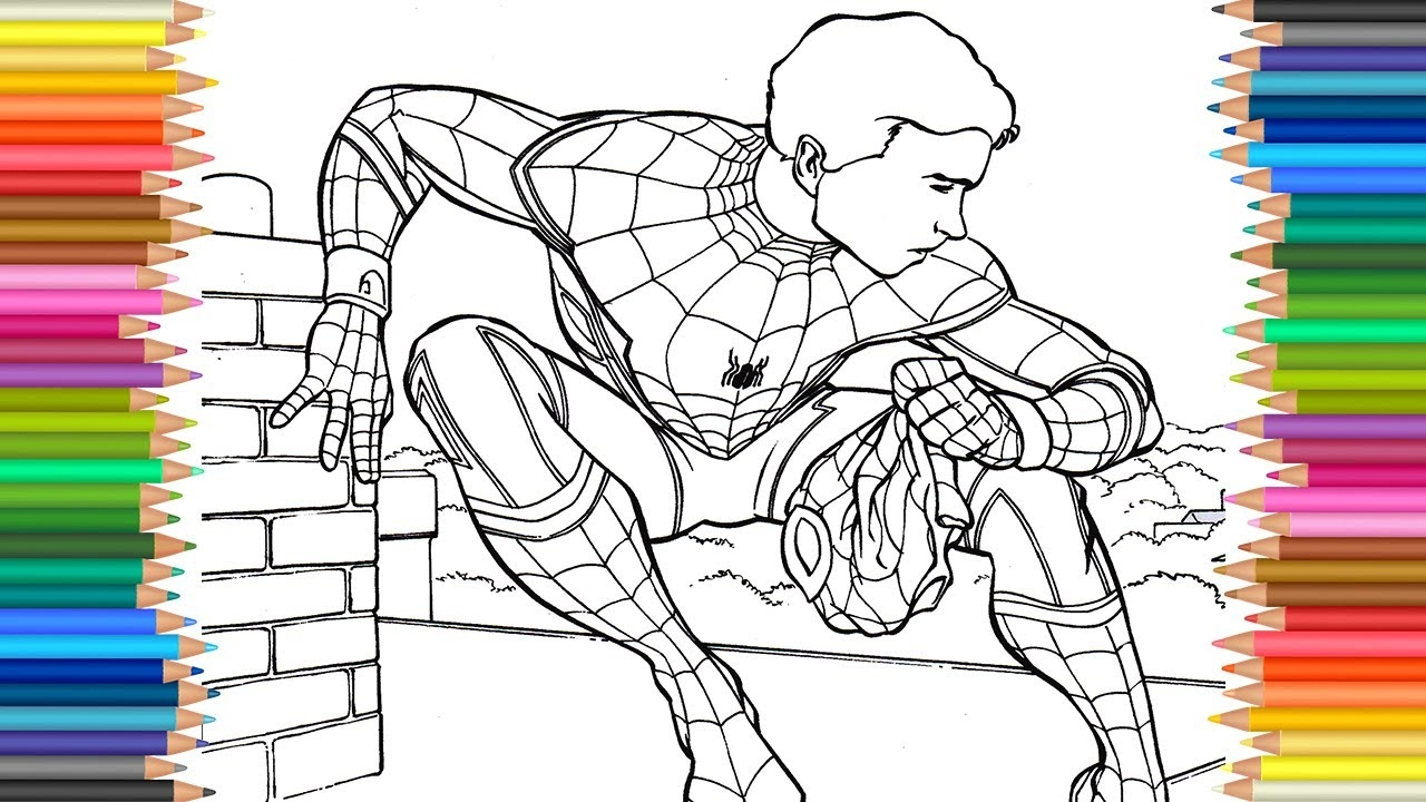 spiderman homecoming coloring pages - watch v=s9wDsWVDSns