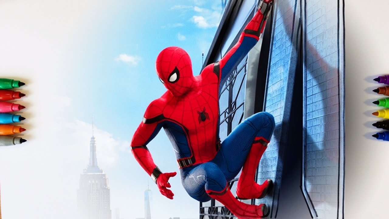 spiderman homecoming coloring pages - watch v= zrk FzSsdM