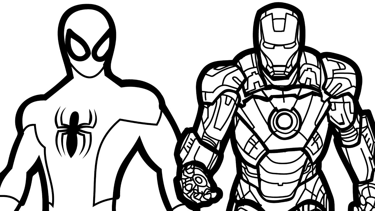spiderman homecoming coloring pages - watch v=VLjYnjvqHCk