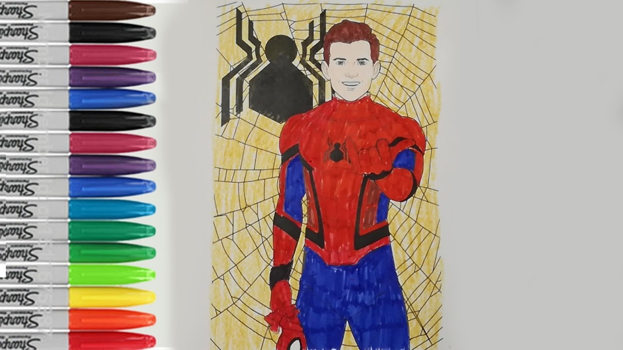 spiderman homecoming coloring pages - watch v=iLDL ntKV7o