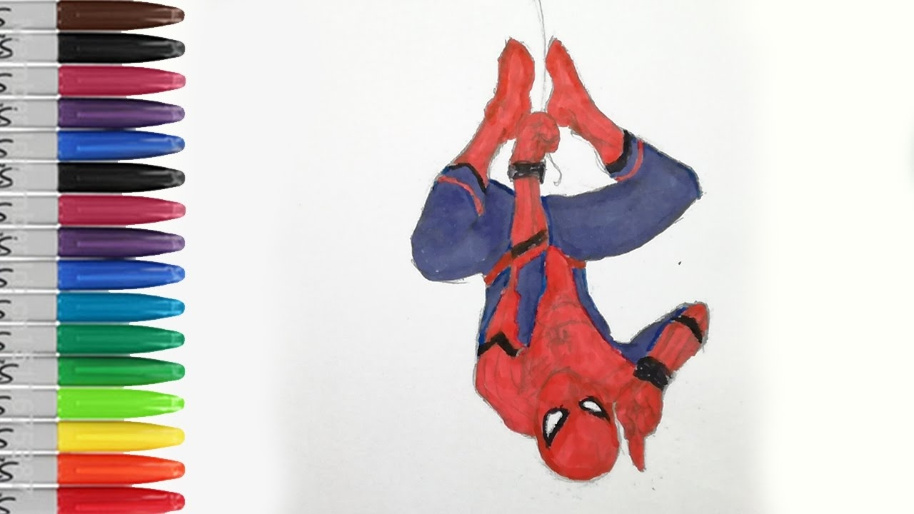 spiderman homecoming coloring pages - watch v=ufUb1lqIi2s