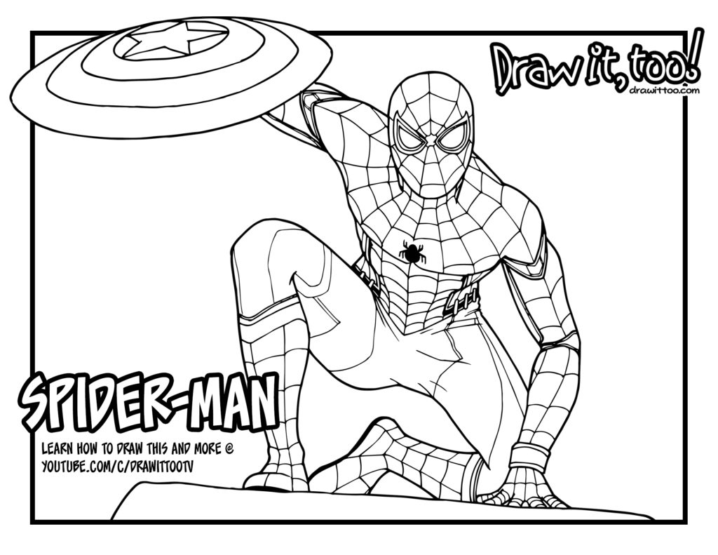 spiderman homecoming coloring pages - the amazing spidey weaving his web coloring page