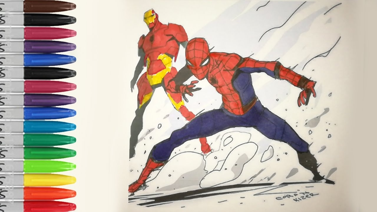 spiderman homecoming coloring pages - watch v=muK4cl4D4wY