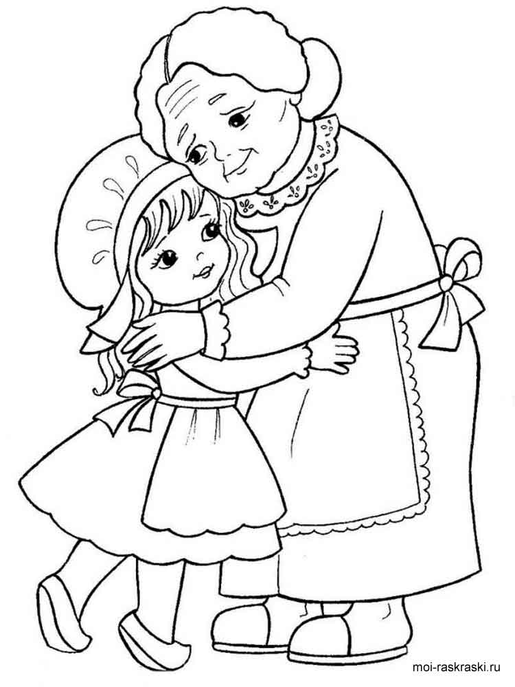 spirit coloring pages - grandma coloring pages