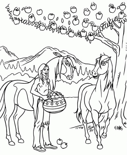 Spirit Coloring Pages - Spirit Coloring Pages Coloringpages1001