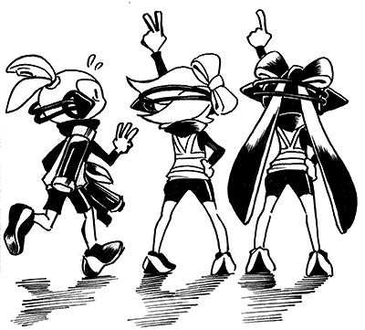 splatoon coloring pages - File Credits Callie and Marie and Inkling Boy