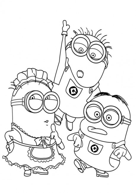 spongebob coloring pages - minions 20