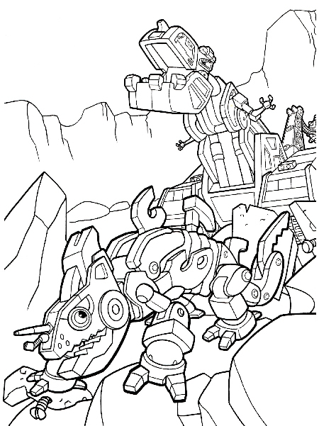 spongebob coloring pages - dinotrux coloring pages
