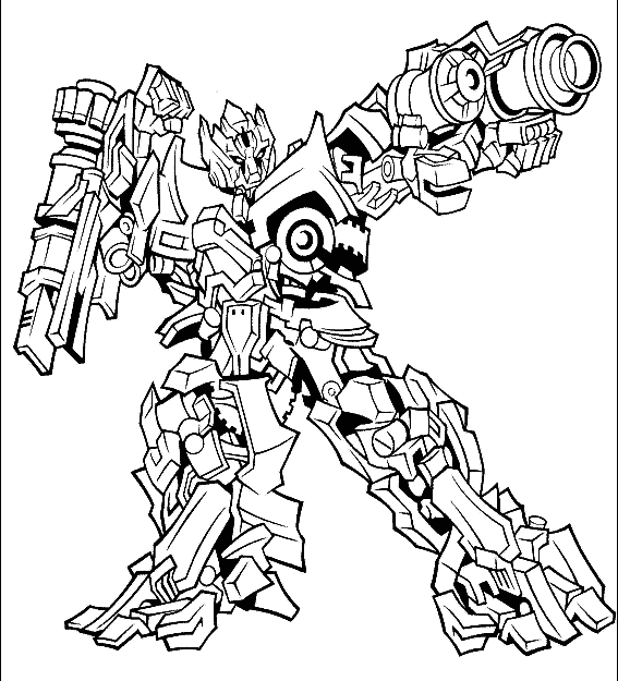 spongebob coloring pages - transformers coloring