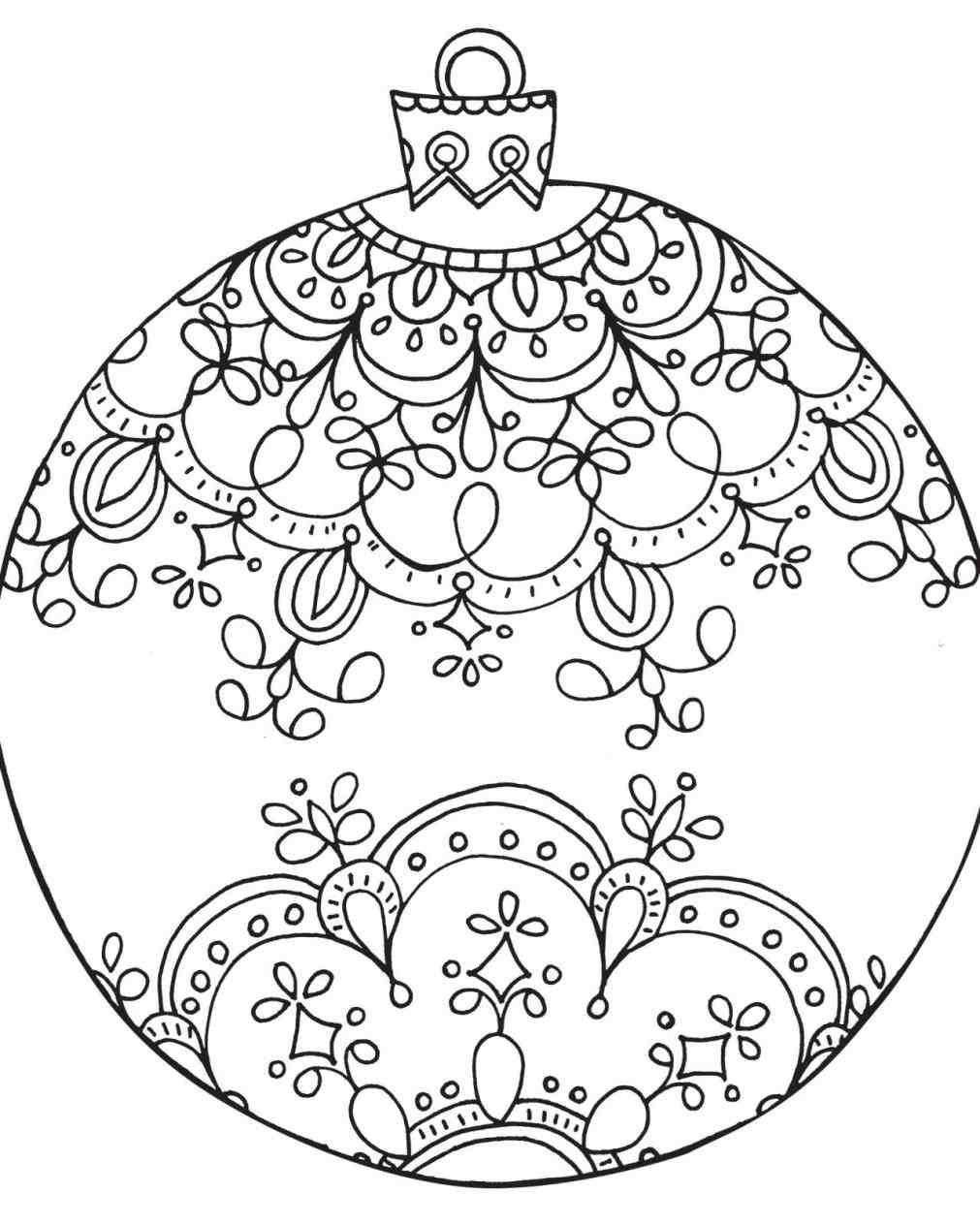 spongebob printable coloring pages - christmas balls coloring pages