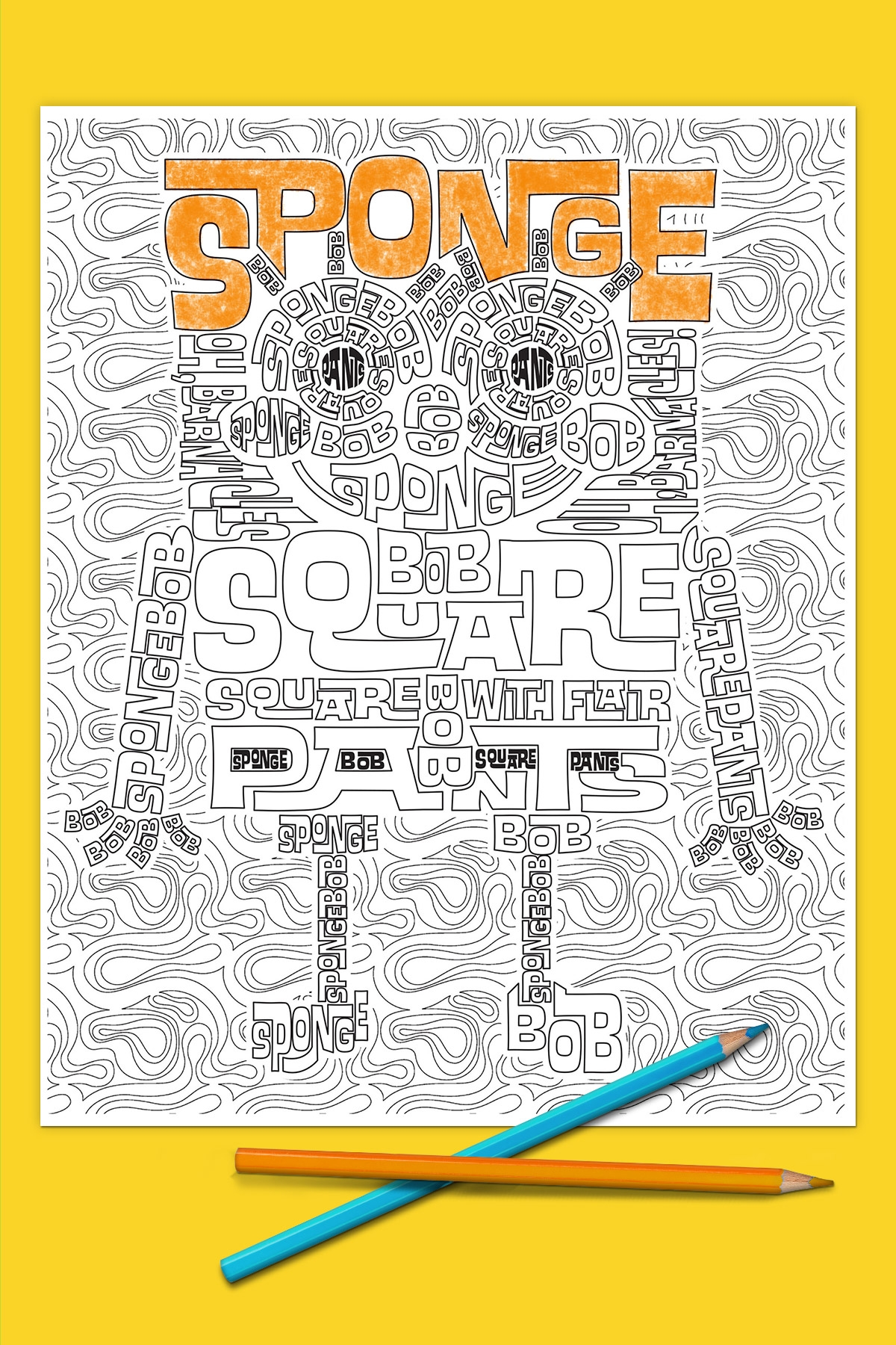 spongebob printable coloring pages - spongebob adult coloring page