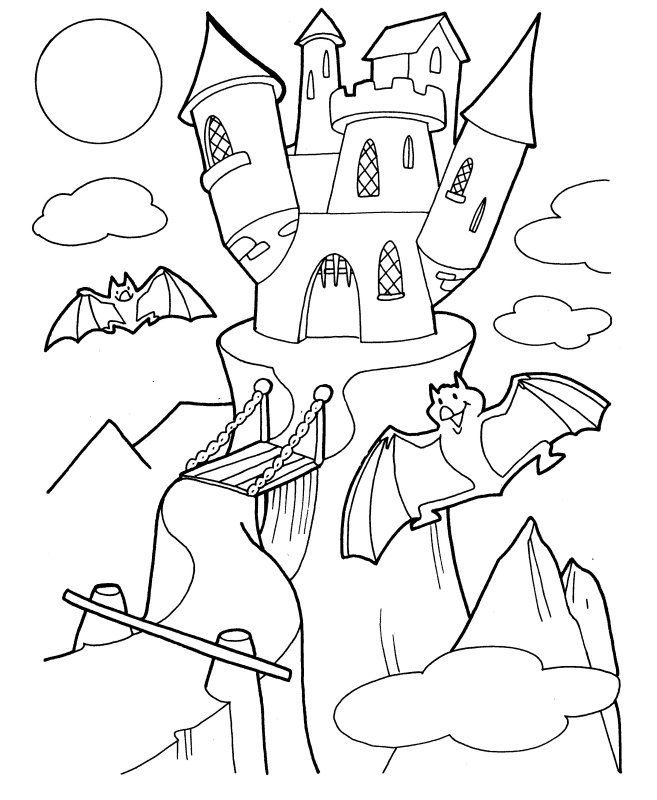 Spooky Coloring Pages - Halloween Coloring Pages