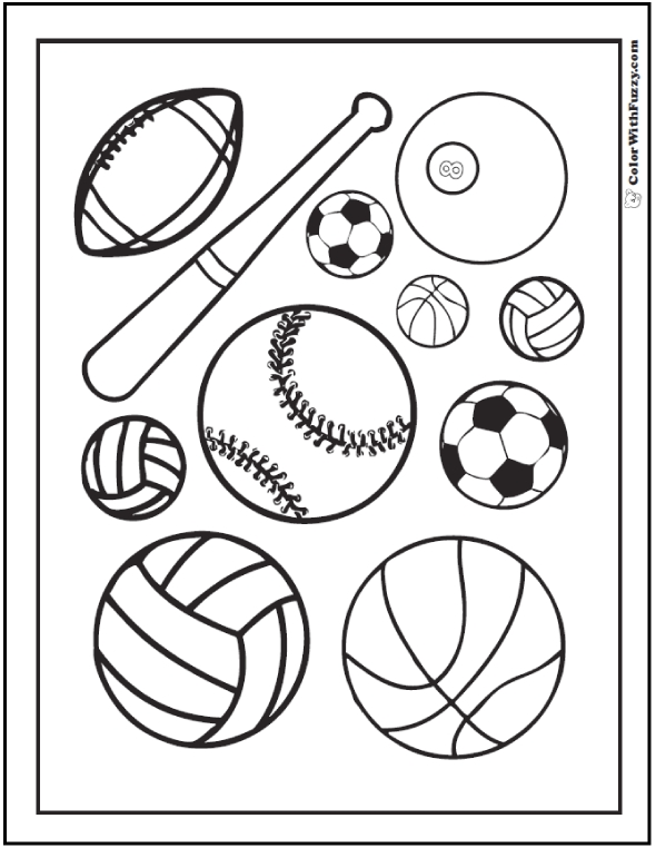 sports coloring pages - sports coloring sheets