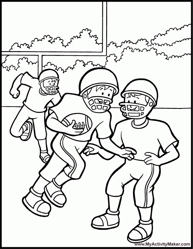 sports coloring pages - football printable coloring pages
