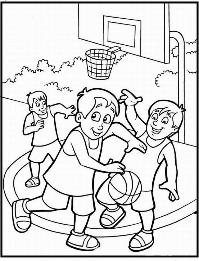 sports coloring pages -