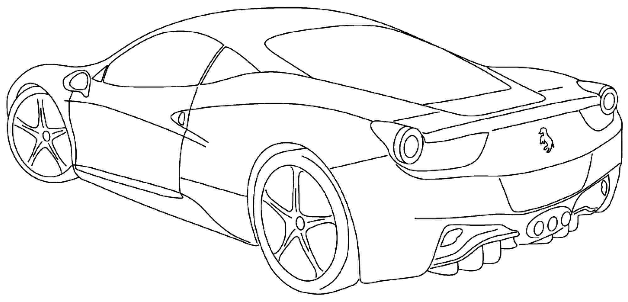 Sports Coloring Pages - Free Sports Car Coloring Pages Coloringsuite