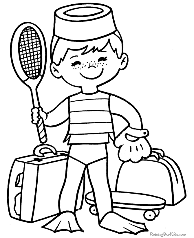 sports coloring pages - 003 sports coloring page