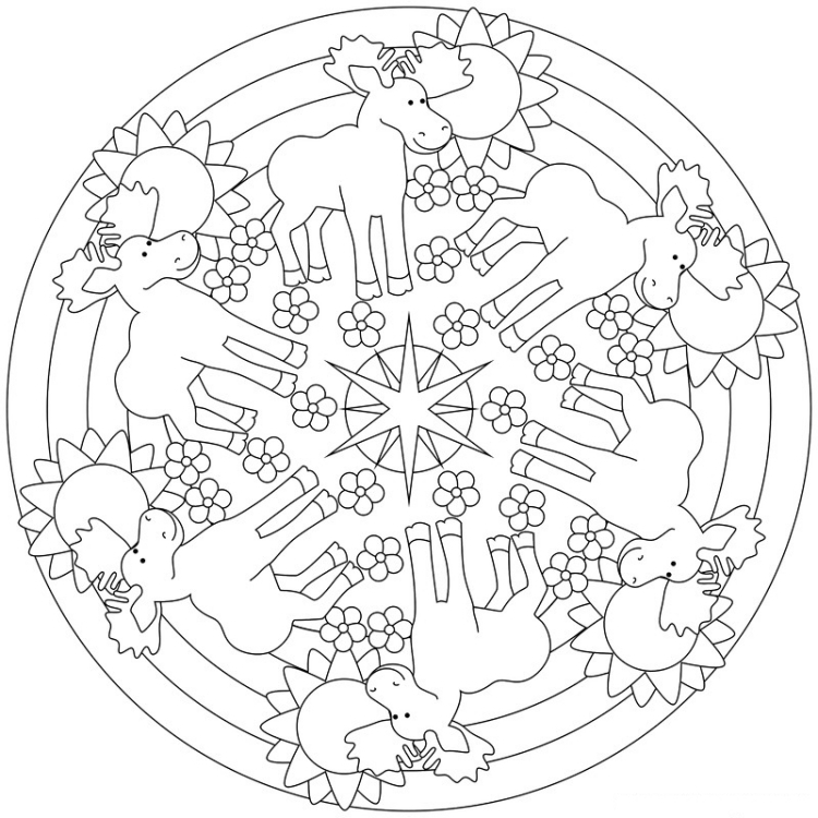 spring adult coloring pages - herbst mandalas kinder ausdrucken malen