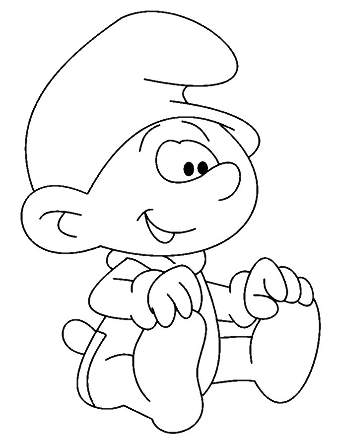 spring adult coloring pages - File Baby Smurf Uncolored