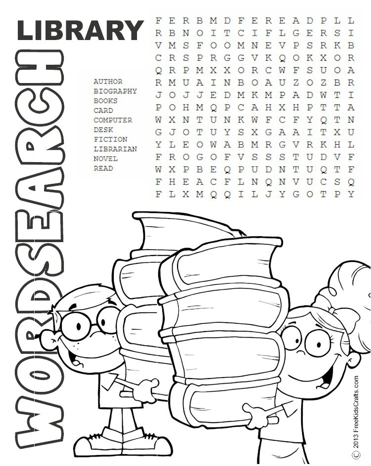 spring adult coloring pages - printable library word search