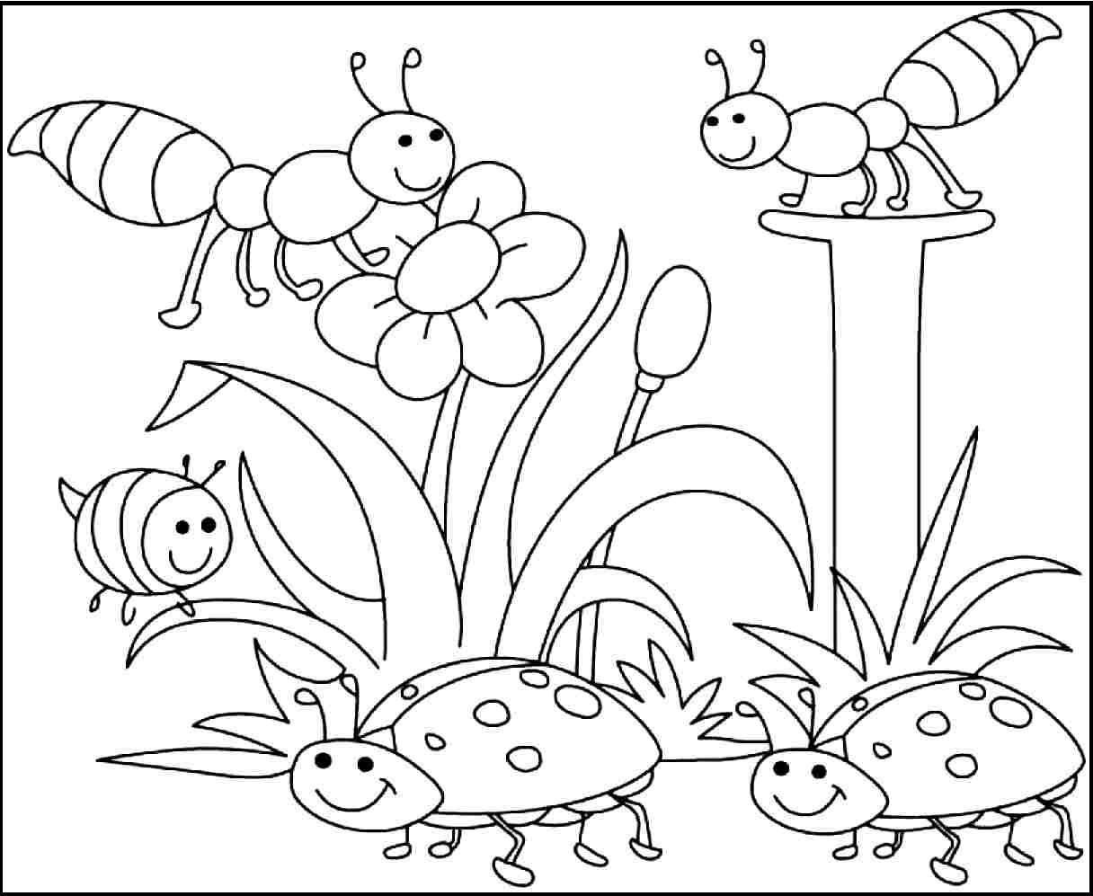 Spring Break Coloring Pages - Coloring Pages Free Printable Spring Coloring Pages Kids