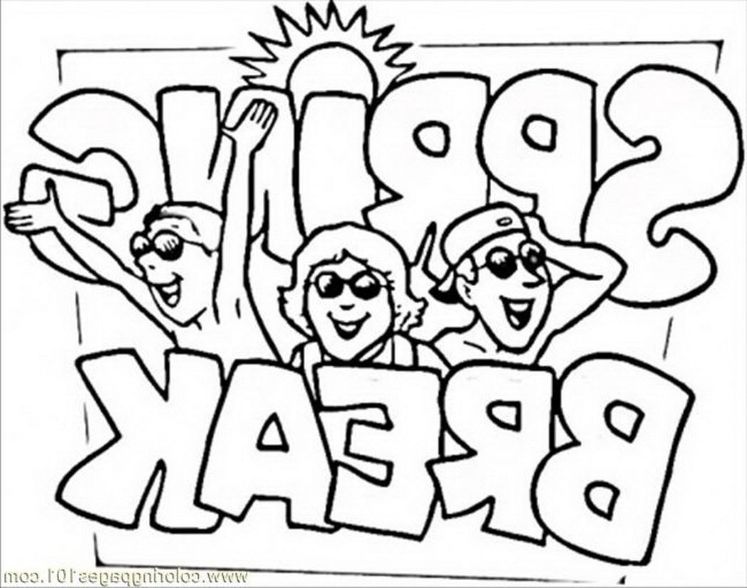 spring break coloring pages - spring break coloring page