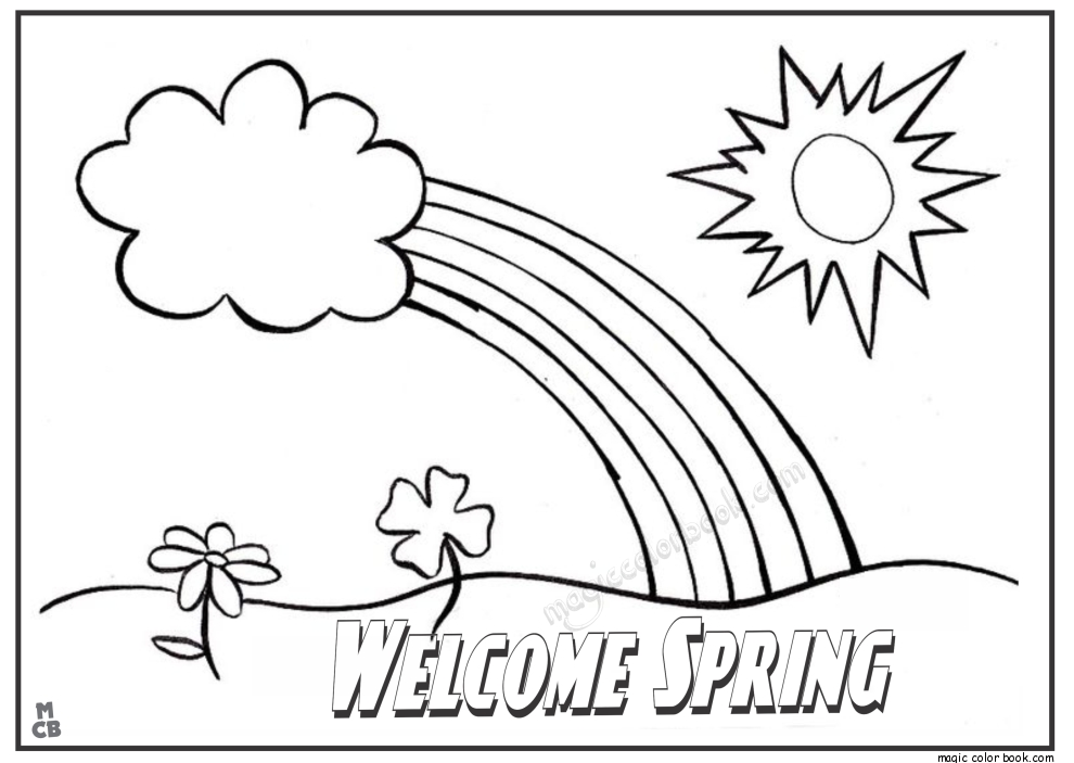 spring break coloring pages - spring