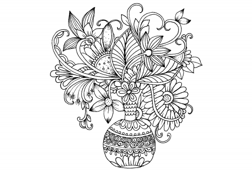 spring coloring pages for adults - advanced flower coloring pages 5