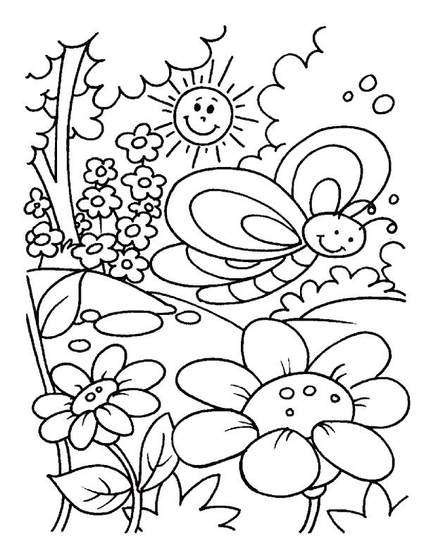 spring coloring pages for preschoolers - coloring pages for kids
