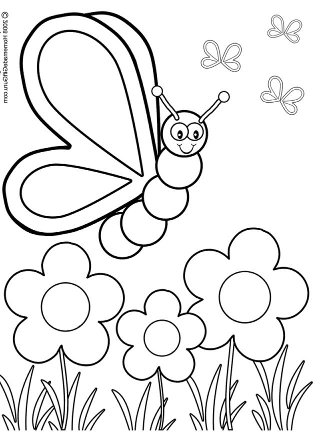 spring coloring pages for preschoolers -