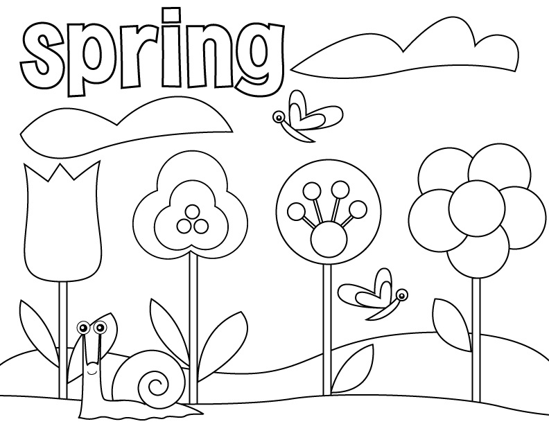 Spring Coloring Pages for Preschoolers - Spring Coloring Pages for Preschoolers 2013 Coloring Point