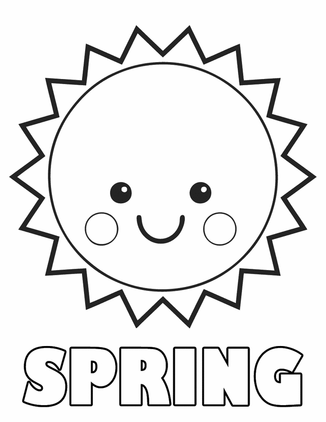 Spring Coloring Pages Printable - Printable Spring Coloring Pages Az Coloring Pages