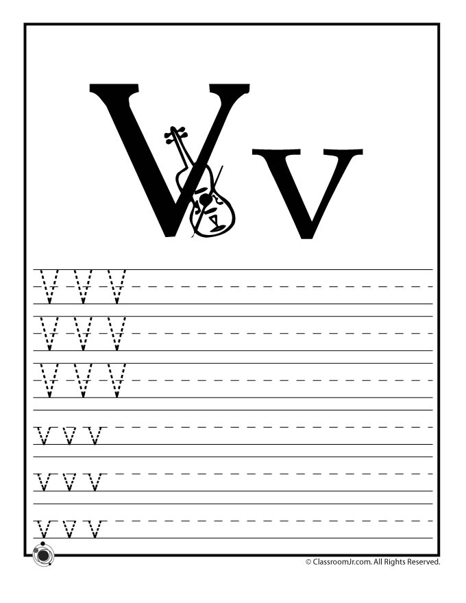 spring coloring pages - letter v practice