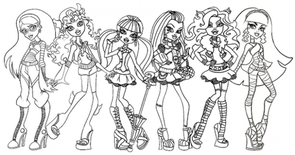 spring coloring pages - monster high coloring pages