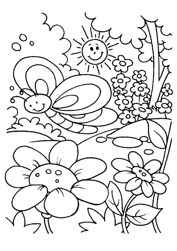 spring coloring pages to print - print spring coloring pages
